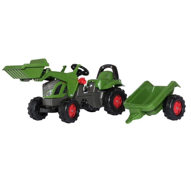 PEDAL TRACTOR FENDT 516 VARIO WITH FRONTLOADER AND TRAILER
